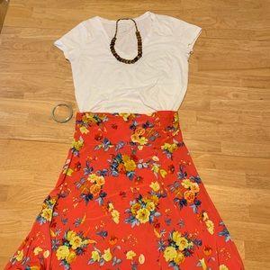 🌸Lularoe azure skirt orange floral